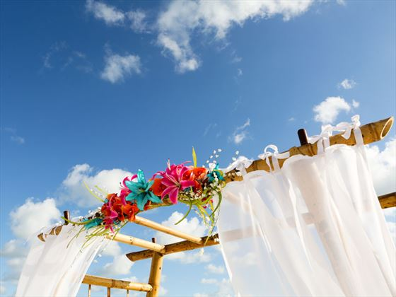 Add those extra touches for your beach wedding
