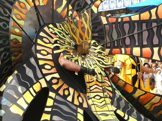 Carnival costumes at a St Lucian festival