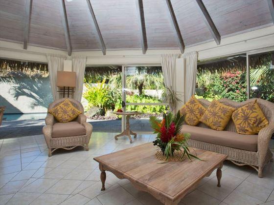 Standard Pool Villa lounge at Te Manava Luxury Villas & Spa