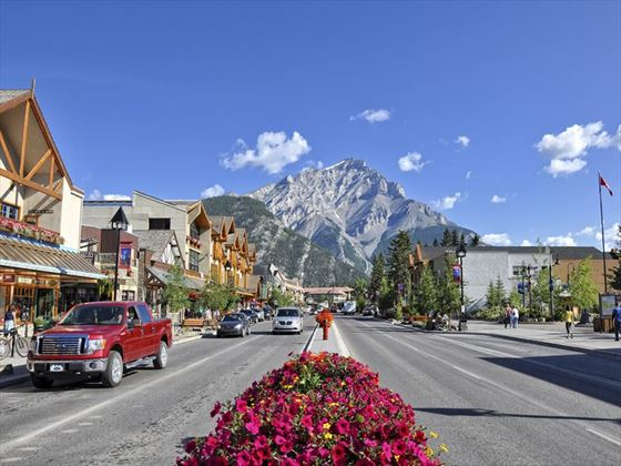 Street view of Banff Avenue