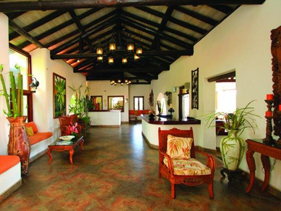 Sugar Cane Club Hotel & Spa reception area