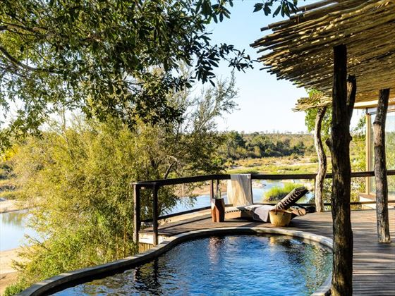 Suite plunge pool at Singita Boulders