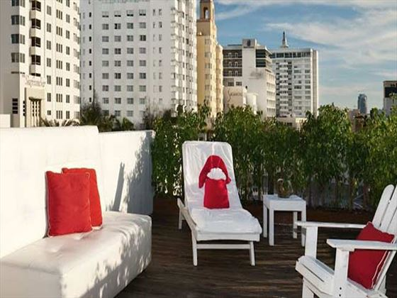 Sun deck at Catalina Hotel