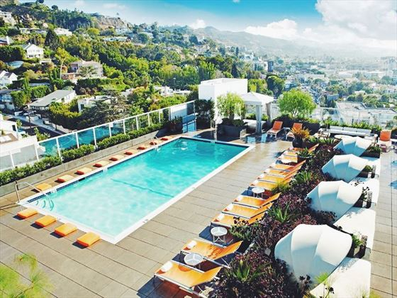 Sundeck on top of Andaz West Hollywood