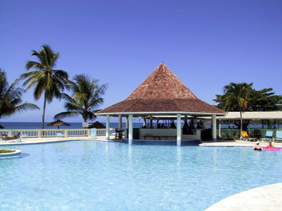 Swim-up bar at Turtle Bay Tobago