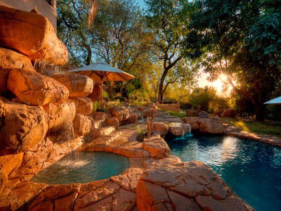 Swimming pool at Chobe Game Lodge