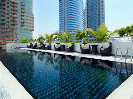 Swimming pool at Movenpick Jumeirah Lakes Towers