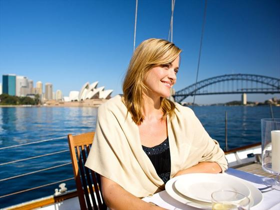 Dining at Sydney Harbour