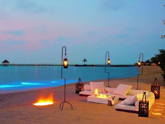 Beach loungers at Taj Exotica Resort & Spa