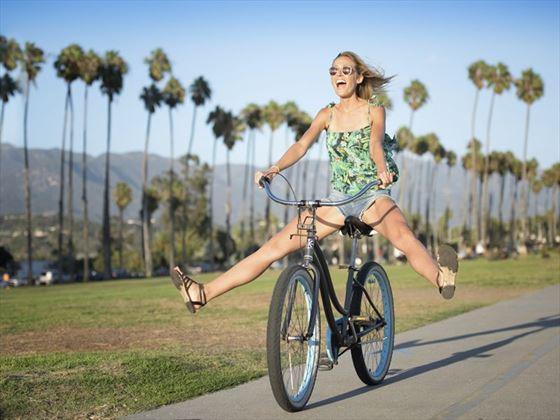 Taking a bike ride in Santa Barbara