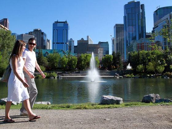 Taking a stroll in Calgary