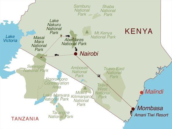 Taste of Kenya & Beach Map