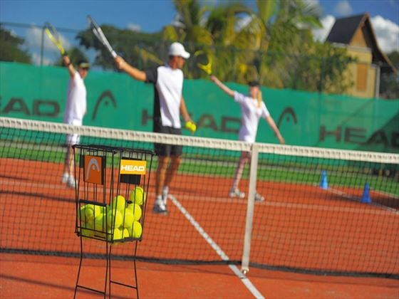 Tennis facilities at Trou Aux Biches Resort & Spa