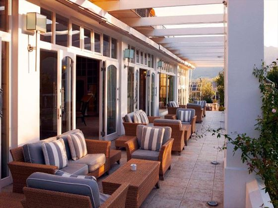 Terrace at Le Franschoek Hotel