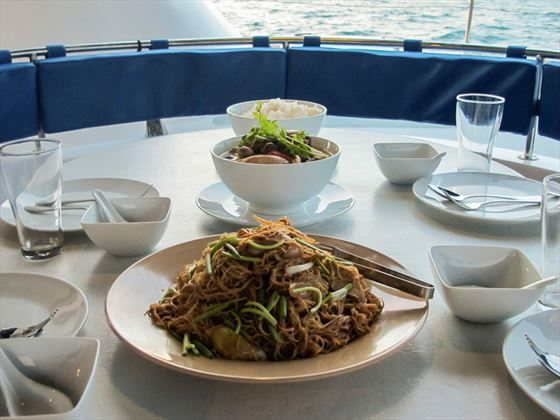 Thailand Sailing - delicious meals on board