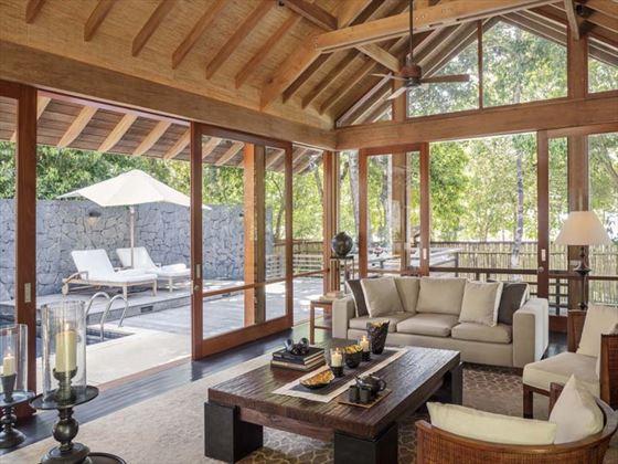 The Datai, One Bedroom Beach Villa living room