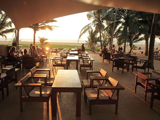 The Deck terrace bar at Jetwing Beach