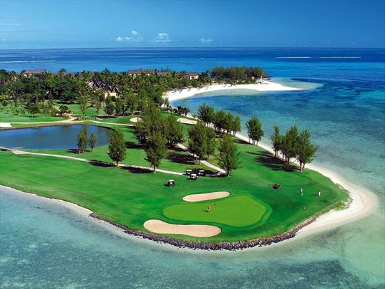 The golf course at Dinarobin Beachcomber