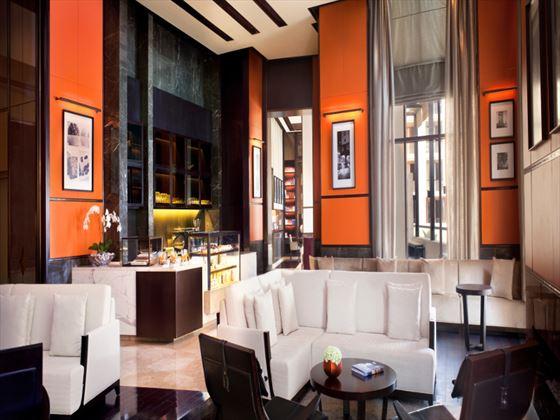The Library tea lounge at Park Hyatt Abu Dhabi Hotel & Villas