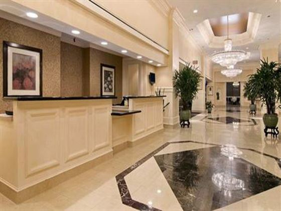 Hotel Lobby of Hilton Savannah Desoto