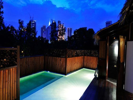 The Loft private pool at Villa Samadhi