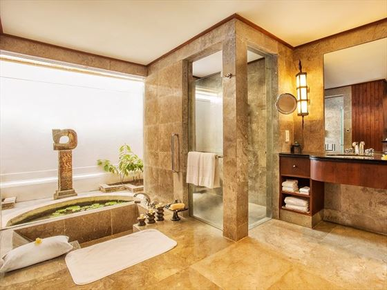 The Pavilion bathroom at The Oberoi Beach Resort Lombok