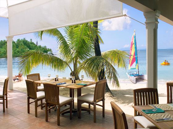 The Sea Grape restaurant at Curtain Bluff