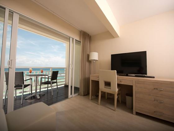 The SoCo Hotel terrace overlooking the ocean