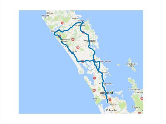 The Winterless North Luxury Self-Drive map