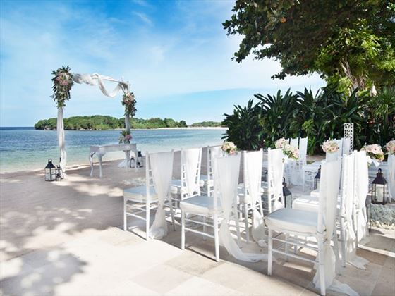 Beachfront wedding setting when choosing the Premier Wedding
