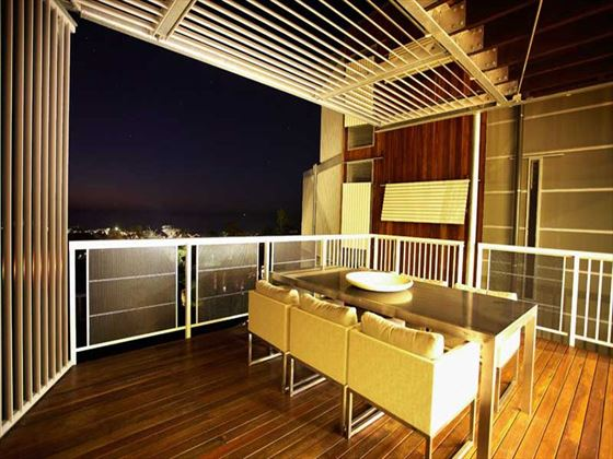 Three-Bedroom Apartment balcony at Outrigger Little Hastings Street Resort & Spa