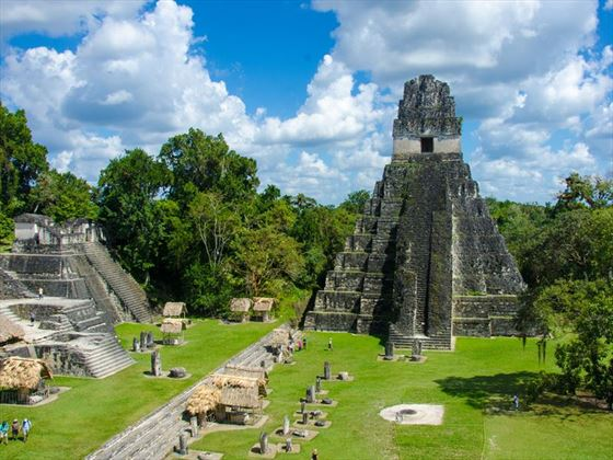 Tikal ruins and pyramids of Guatemala