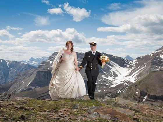 Top of the World wedding, Banff