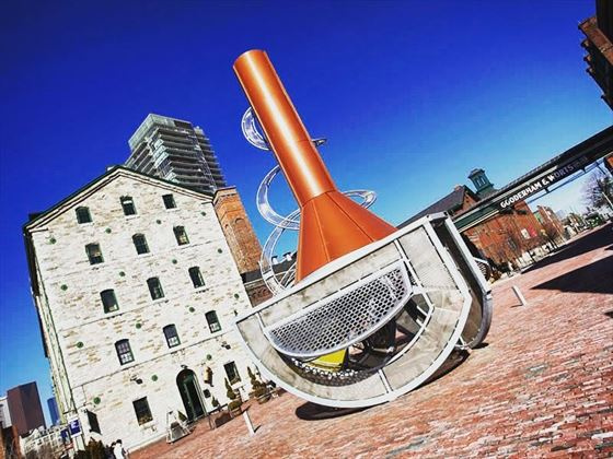Street sculpture on Toronto's Distillery District