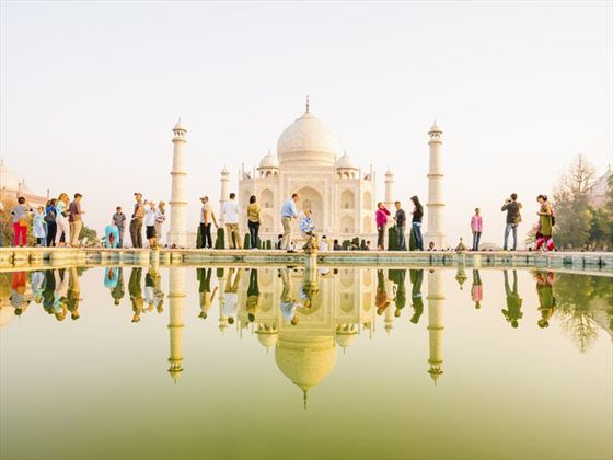Tourists at Taj Mahal