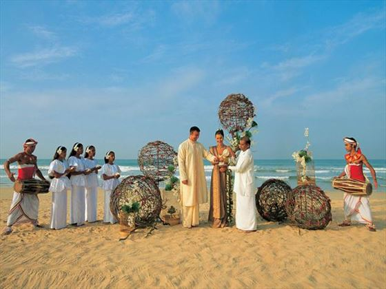 Traditional ceremony on the beach
