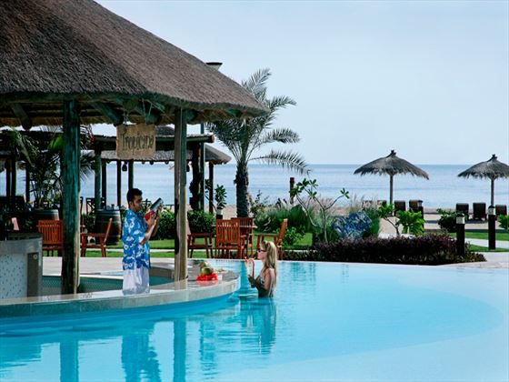 Tropicana swim-up bar at Fujairah Rotana Resort & Spa