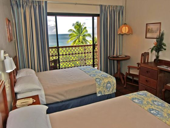 Twin room at Grafton Beach Resort