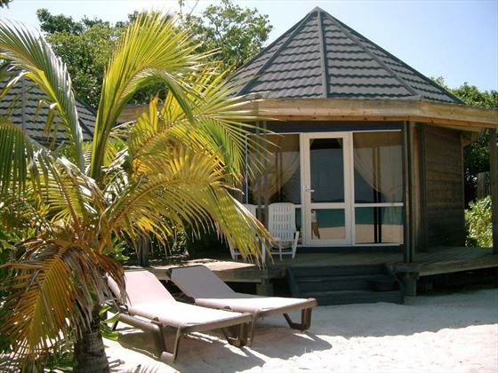 Typical Beach Villa at Kuredu Island Resort