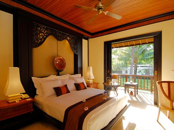 Typical bedroom at Spa Village Resort Tembok, Bali