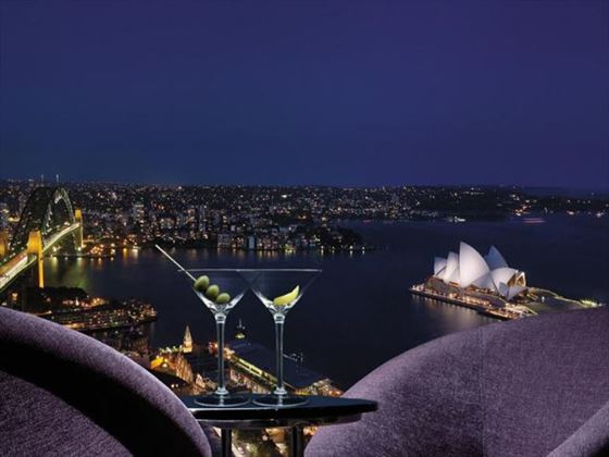 View from the Blu Bar on 36 at Shangri-La Hotel Sydney