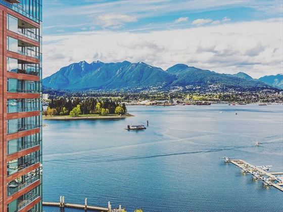 Views of Stanley Park, Coal Harbour & North Vancouver from Pinnacle Hotel Harbourfront