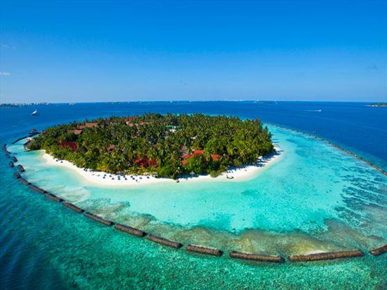 View of Kurumba's private island setting