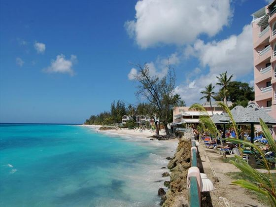 View of the beachfront location for Barbados Beach Club
