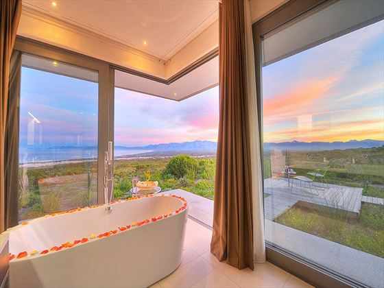 Villa bathroom at Grootbos Private Nature Reserve