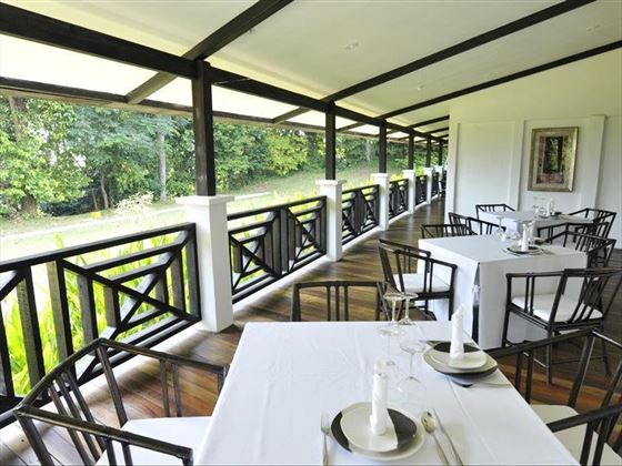 Tamarind Hill Terrace and breakfast area