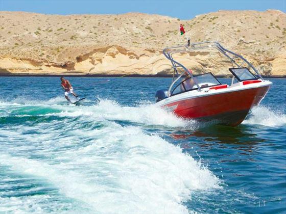 Wakeboarding at Al Bandar Beach
