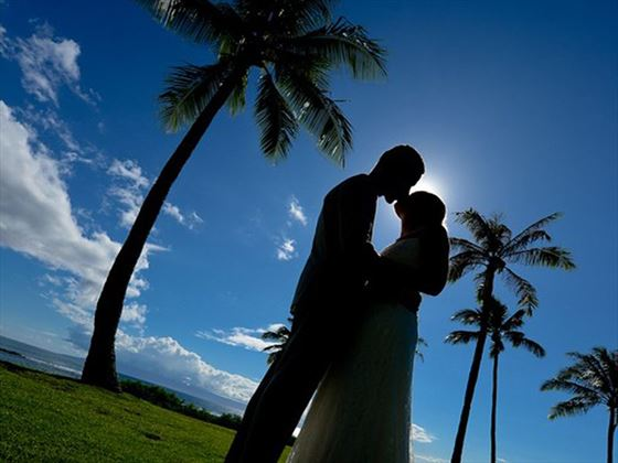 Beautiful Maui wedding setting