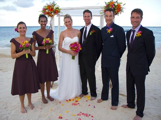 Wedding party at The Jewel Dunn's River Resort