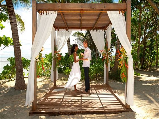 Wedding pergola, Kempinski Seychelles Resort